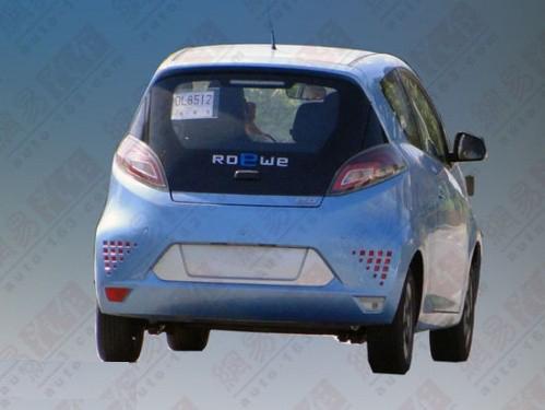 10月下旬量产 荣威E50纯电动车最新曝光高清图片