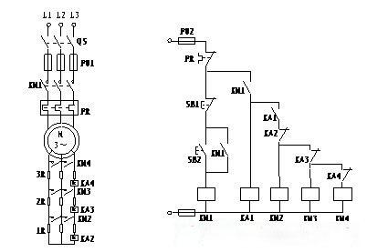 电流原则控制转子电路串电阻起动控制电路